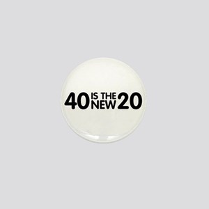 40isnew20 Mini Button