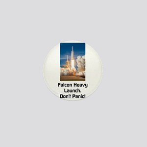Falcon Heavy Launch- Dark Text Mini Button
