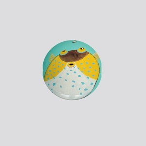 Puffer Fish Mini Button