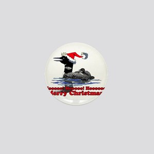 Christmas Loon Mini Button
