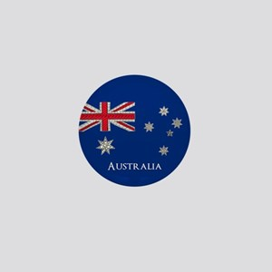 Australian Flag Unique and Customisabl Mini Button