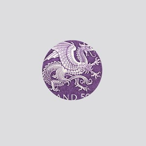 Vintage 1989 Iceland Dragon Postage St Mini Button