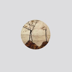 Egon Schiele Autumn Sun And Trees Mini Button