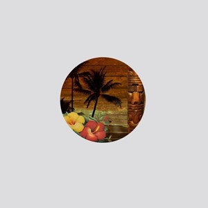 totem Hawaiian Hibiscus Flower Mini Button