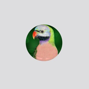 Moustached Parakeet Mini Button