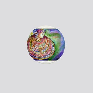 African Lady, Colorful, art, Mini Button