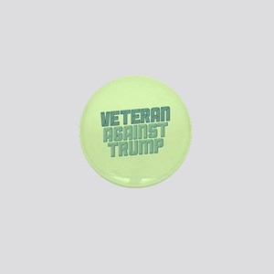 Veteran Against Trump Mini Button