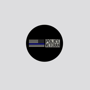 Police: Police Veteran (Black Flag Blu Mini Button