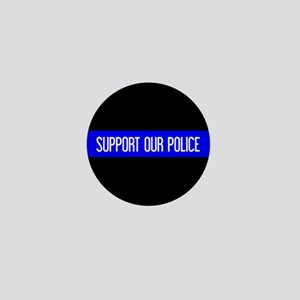 Police: Support Our Police & The Thin Mini Button