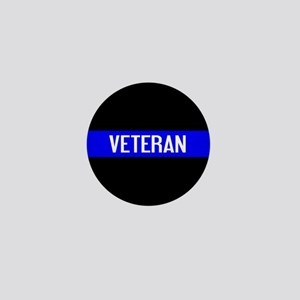 Police: Veteran & The Thin Blue Line Mini Button