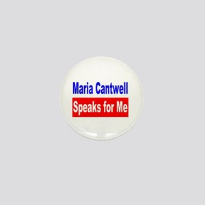 Maria Cantwell Speaks For Me Mini Button