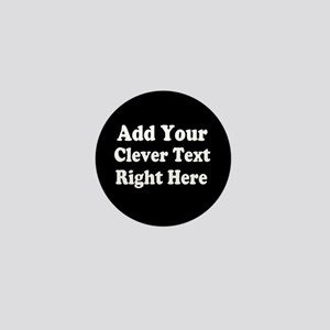 Add Text Background Black White Mini Button