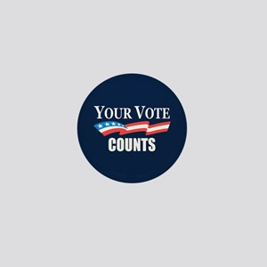 Your Vote Counts Mini Button
