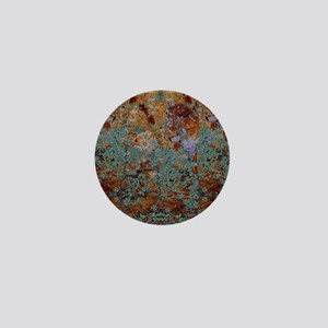 Rustic Rock Lichen Texture Mini Button