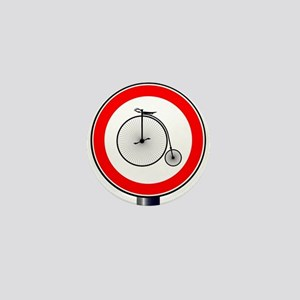 Penny Farthing Traffic Sign Mini Button