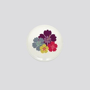 Colourful hibiskus flowers Mini Button