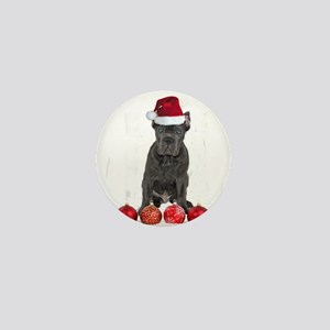 Christmas Cane Corso Puppy Mini Button