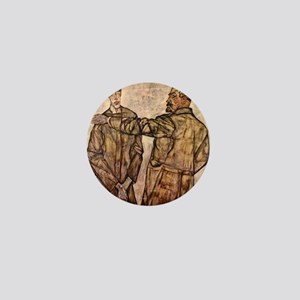 Egon Schiele Double Portrait Mini Button