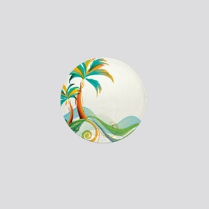 Rainbow Palm Tree Mini Button