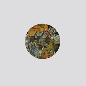 Island Town by Egon Schiele Mini Button