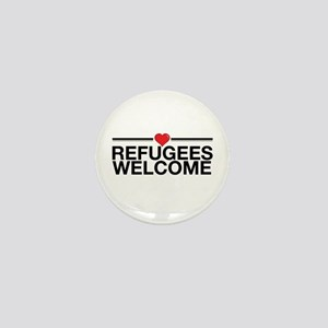 Refugees Welcome Mini Button