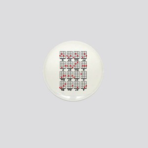 Uke Chord Cheat White Mini Button
