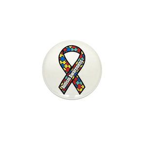 9f466e870ed Autism Ribbon Mini Button