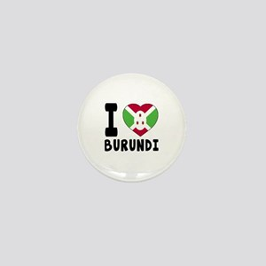 I Love Burundi Mini Button