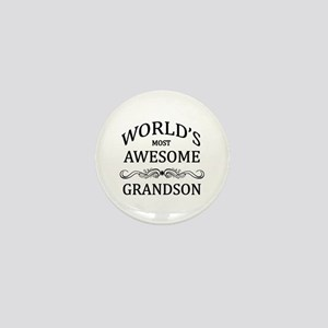 World's Most Awesome Grandson Mini Button