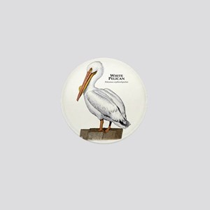 White Pelican Mini Button