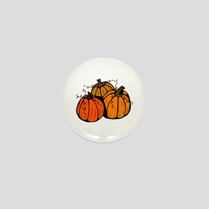 Three Pumpkins Mini Button