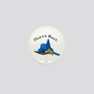 Funny Shark Bait (Bite) Design Mini Button