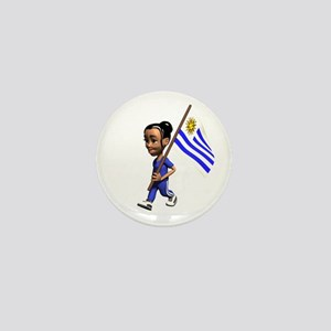 Uruguay Girl Mini Button