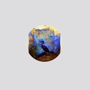 Beautiful great heron, wildlife art Mini Button