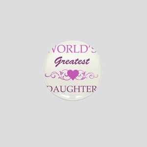 Worlds Greatest Daughter (purple) Mini Button