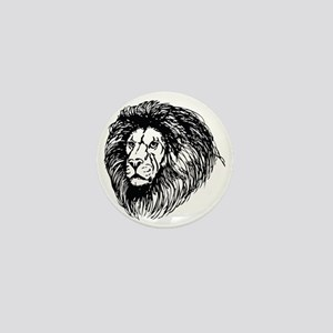 lion - king of the jungle Mini Button
