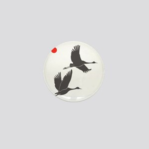 Soaring Cranes Mini Button