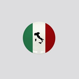 Italian Flag & Boot Mini Button