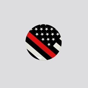 Firefighter Flag: Thin Red Line Mini Button
