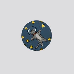Astronaught Cat Mini Button