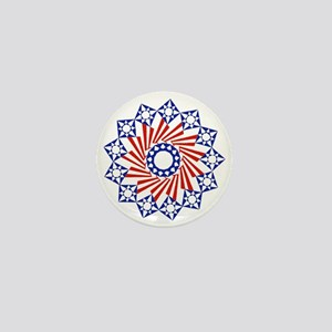 Circle of Stars and Stripes Mini Button