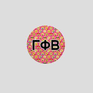 5ba34035abb Gamma Phi Beta Emoji Letters Pink Patt Mini Button