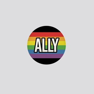 ALLY 1 inch Rainbow Button