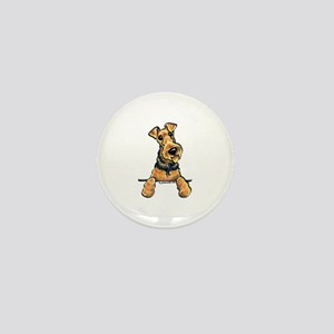 Welsh Terrier Paws Up Mini Button