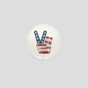 Peace Sign USA Vintage Mini Button