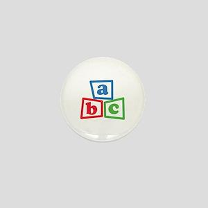 ABC Blocks Mini Button