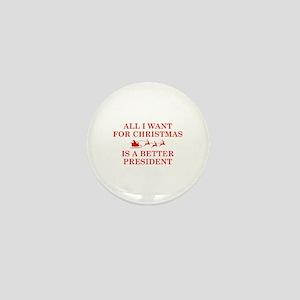 Christmas President Mini Button