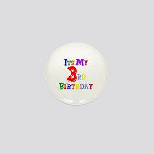 3rd Birthday Mini Button