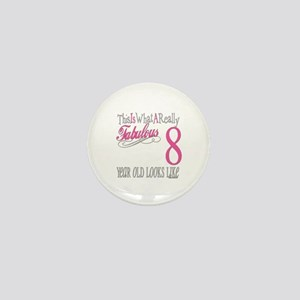 8th Birthday Gifts Mini Button