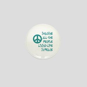Imagine Peace Mini Button